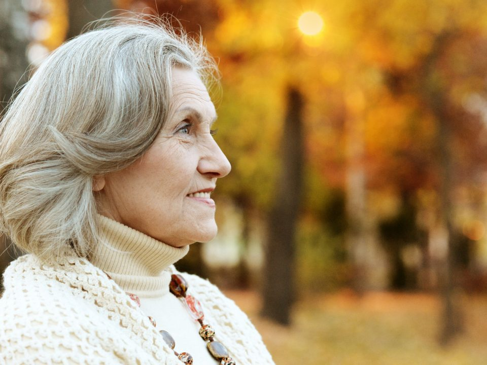 Older woman in the fall | Four A's of Alzheimer's